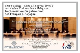 Invitation Crystal Malaga 10 mai1