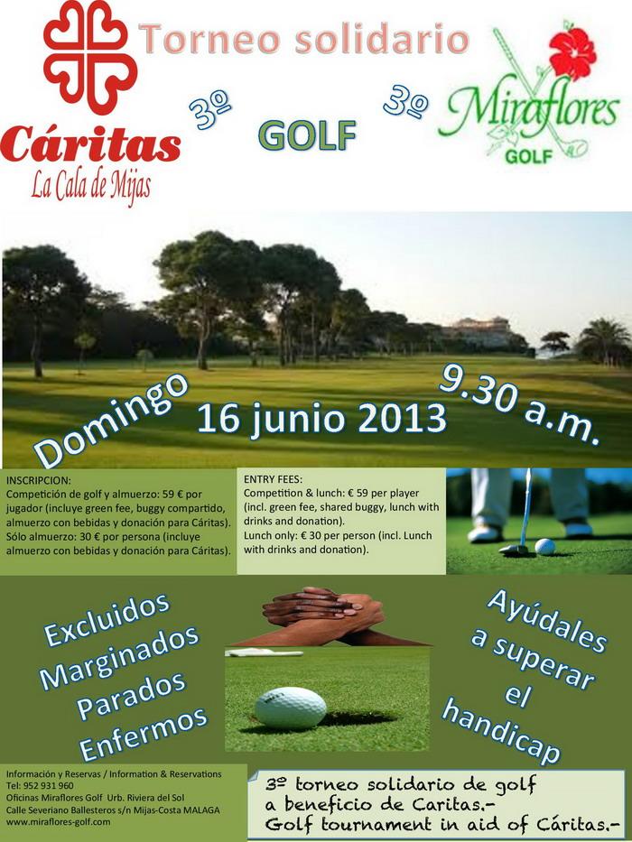 Torneo de Golf para Cáritas