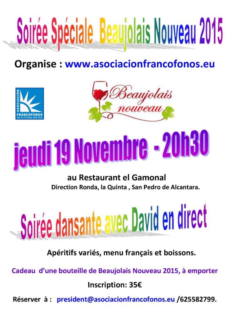 Affiche beaujolais  19 NOV 15