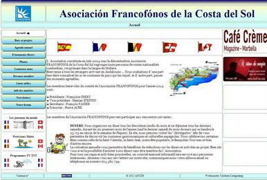Asociación Francófonos website